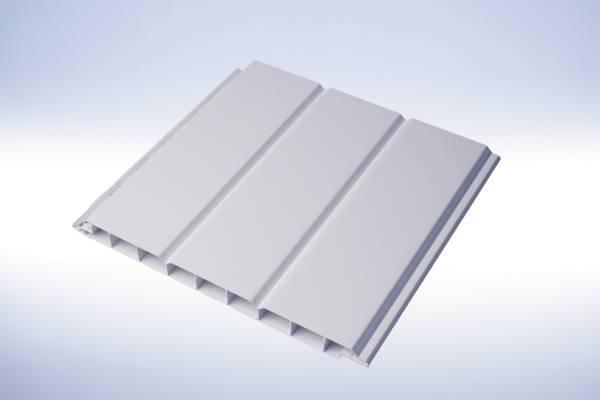 PVC Wand- und Deckenpaneele 16/200 Weiß / Fassadenverkleidung