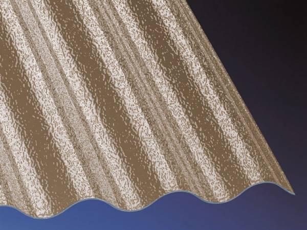 Highlux Acrylglas Profilplatte Plexiglas Rohmasse 3mm Stark Sinus 7618 Bronce C Struktur