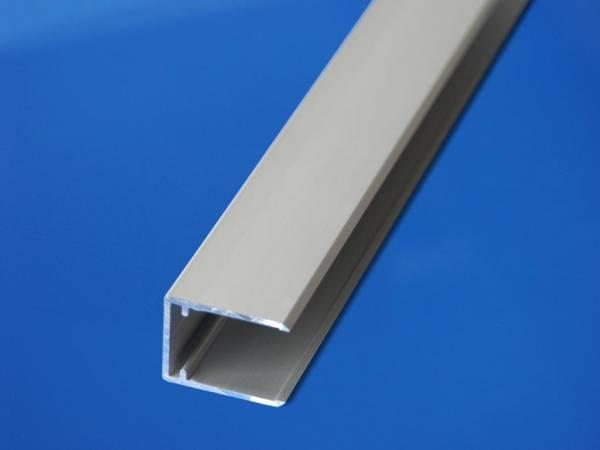 Alu U-Profil für Paneelabschlüsse für 16mm Plattenstärke