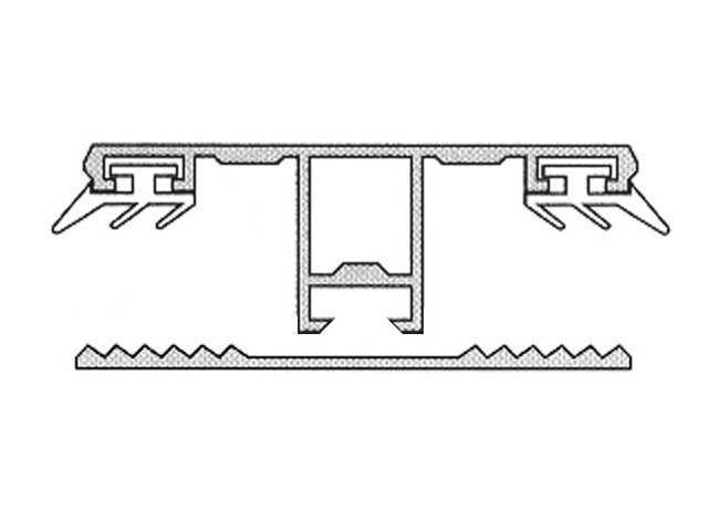 Sehr Doppelstegplatten Aluprofil Montageschiene 16mm mit Dichtung GS49