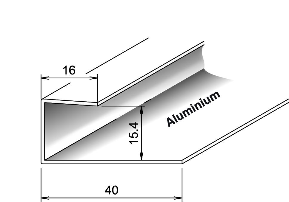 abschlussprofil aluminium f r k mapan nut und. Black Bedroom Furniture Sets. Home Design Ideas