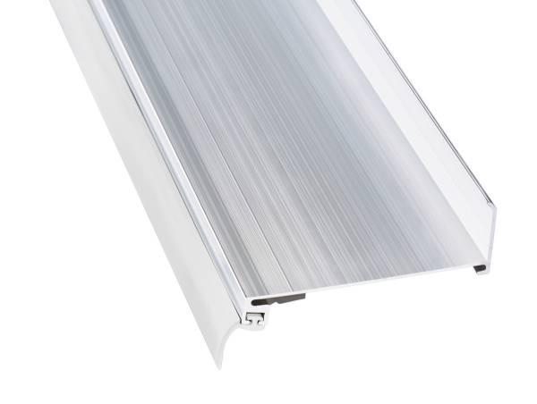Wandanschlussprofil f/ür Stegplatten Aluminium Pressblank 4100mm