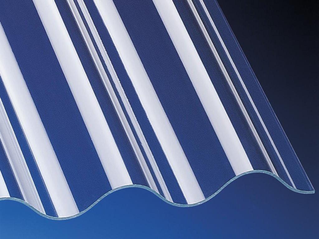 pvc profilplatte lichtplatte wellplatte sinus 76 18 1 1mm stark klar acrylshop24. Black Bedroom Furniture Sets. Home Design Ideas