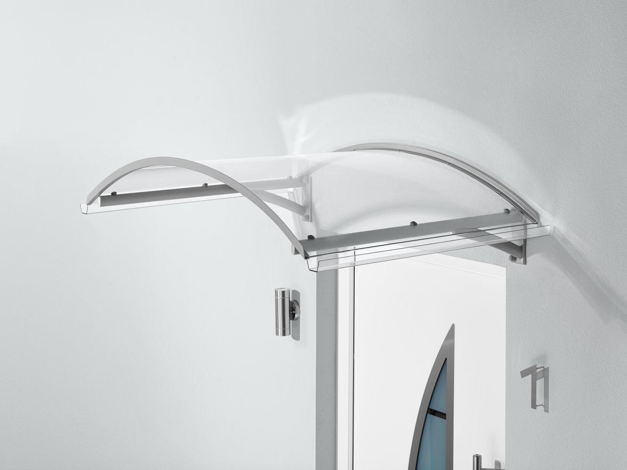bogenvordach bv secco vord cher vord cher acrylshop24 stegplatten mehr. Black Bedroom Furniture Sets. Home Design Ideas