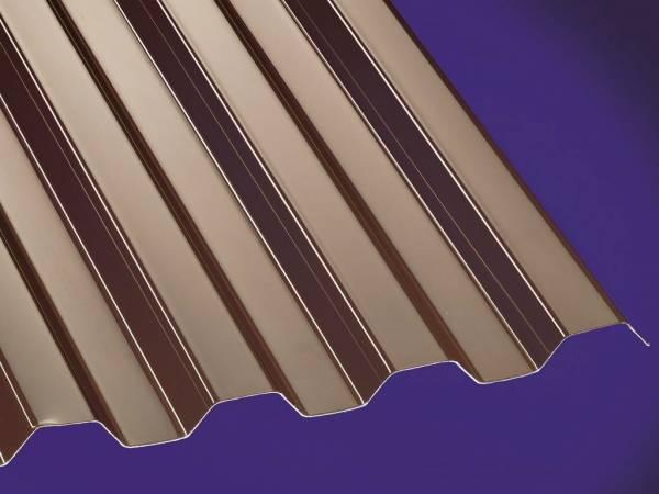 PC Profilplatte Trapez 76/18 bronce - 0,8mm